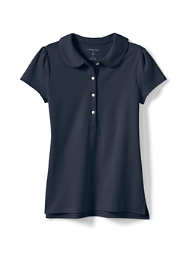 Girls Short Sleeve Peter Pan Collar Polo Shirt