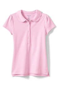Little Girls Short Sleeve Peter Pan Polo