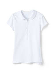 School Uniform Girls Short Sleeve Peter Pan Collar Polo Shirt