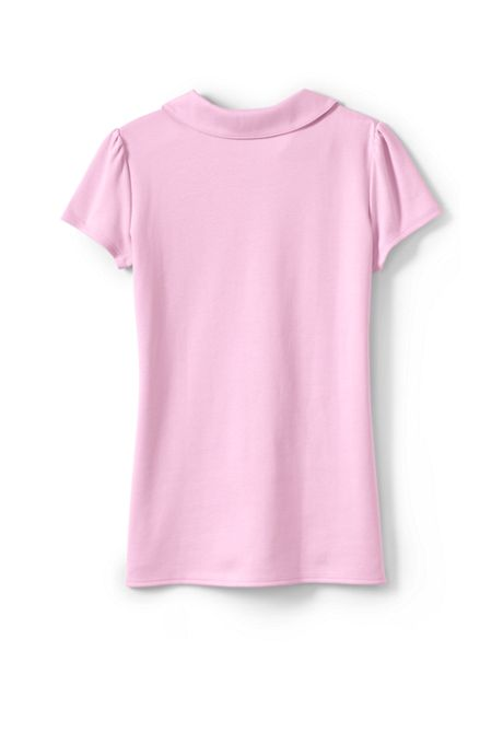 Little Girls Short Sleeve Peter Pan Collar Polo Shirt