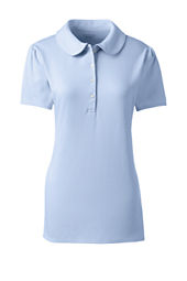 Women's Short Sleeve Knit Peter Pan Polo Shirt