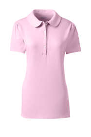 School Uniform Women's Short Sleeve Peter Pan Polo