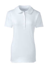 School Uniform Women's Short Sleeve Peter Pan Collar Polo Shirt