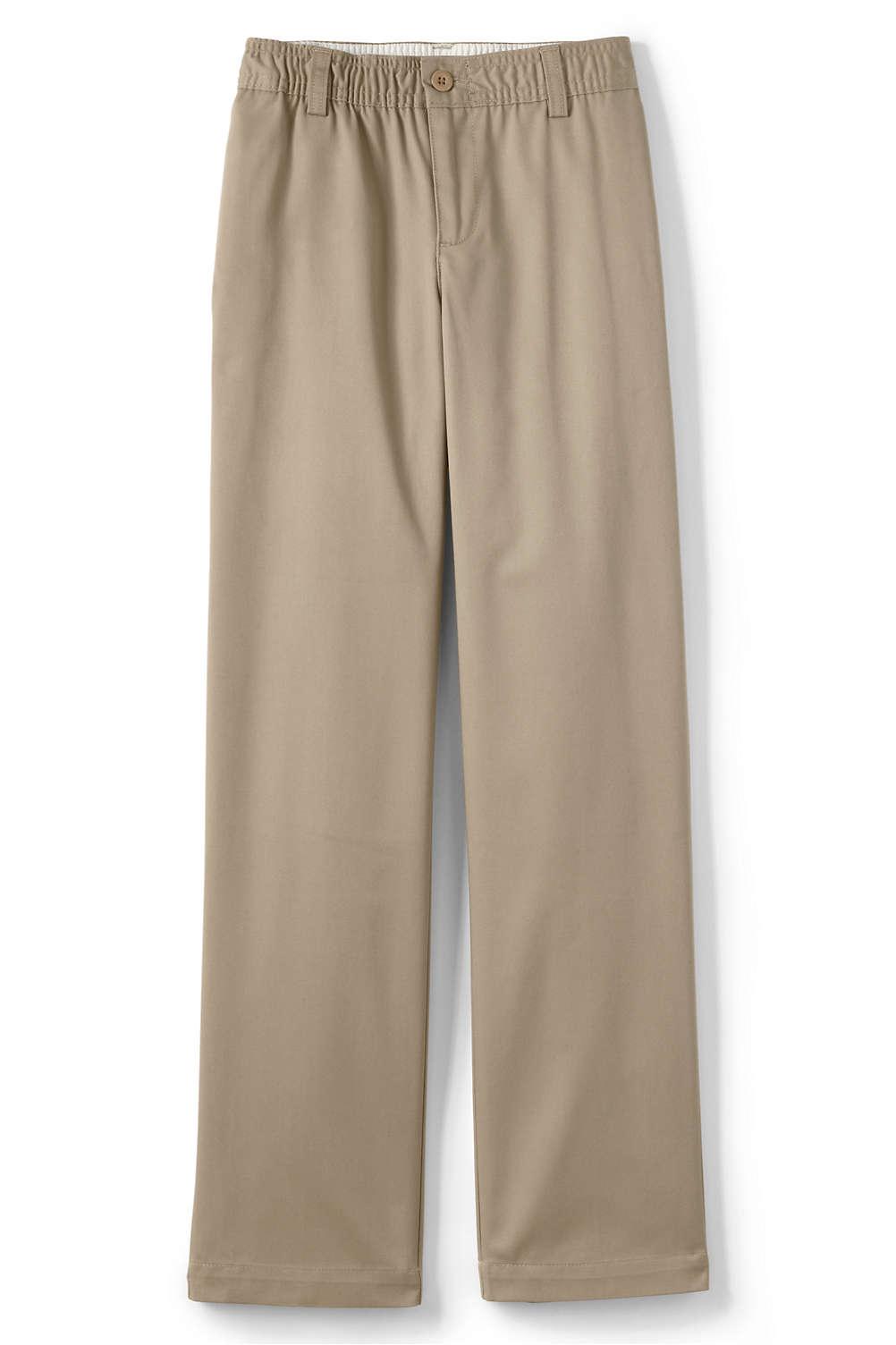 3b07fef1a67 School Uniform Boys Iron Knee Elastic Waist Blend Chino from Lands  End