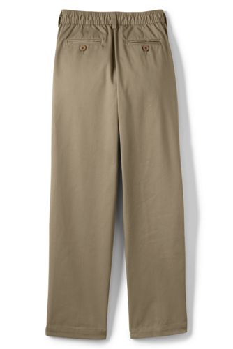 Boys Iron Knee Elastic Waist Blend Chinos