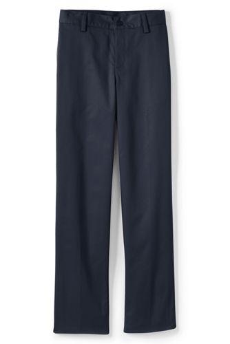 Boys Iron Knee Blend Plain Front Chino Pants