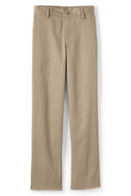 School Uniform Boys Slim Iron Knee Blend Plain Front Chino Pants
