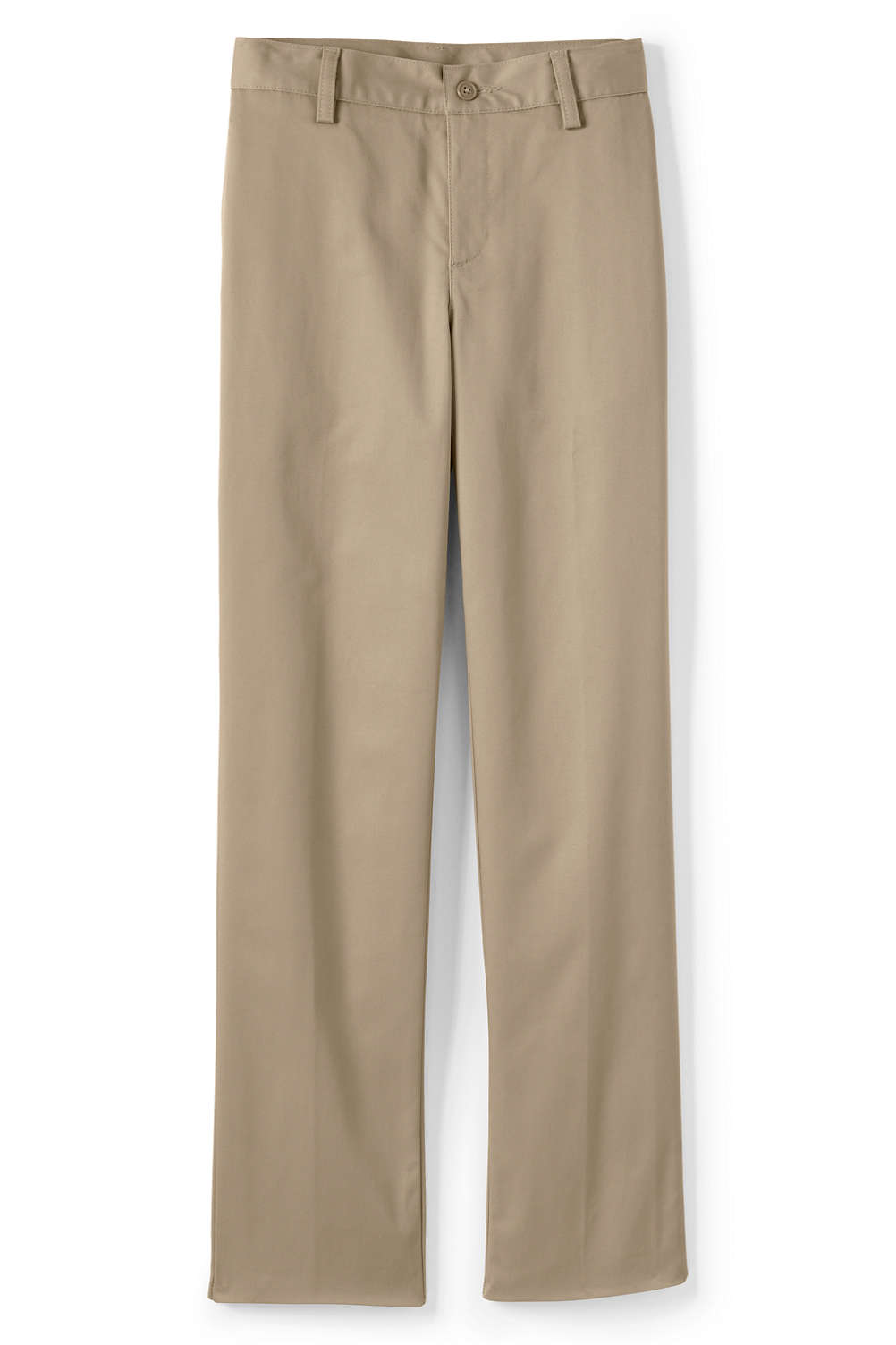 a80315ffb Boys Plain Front Iron Knee Blend Chino Pants from Lands' End