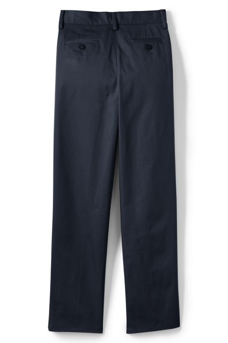 Boys Husky Iron Knee Blend Plain Front Chino Pants