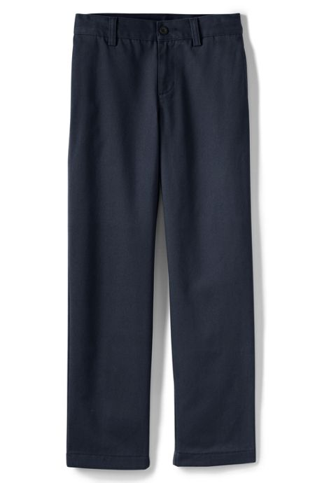 Boys Stain Resist Plain Front Chino Pant