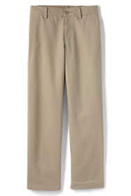 Boys Husky Iron Knee Stain Resistant Wrinkle Resistant Plain Front Chino Pants