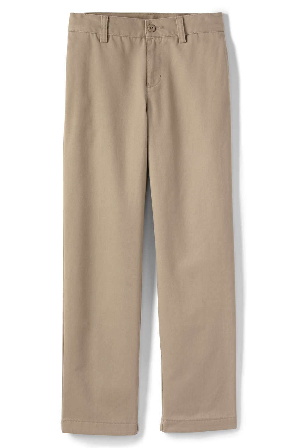 52e35efc8bf School Uniform Boys Iron Knee Stain Resistant Wrinkle Resistant Plain Front  Chino Pants from Lands  End