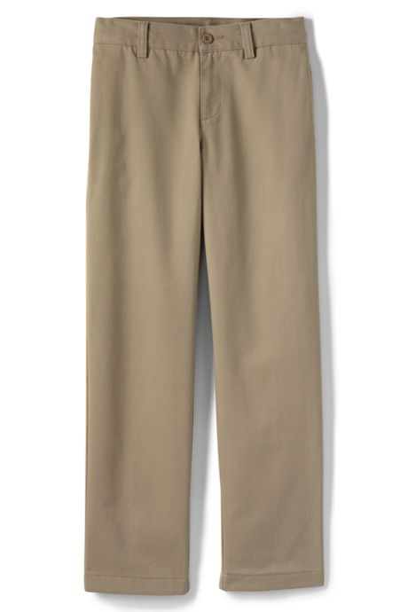 School Uniform Boys Stain Resist Plain Front Chino Pant