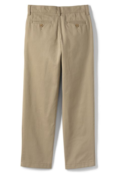 Boys Slim Stain Resist Plain Front Chino Pant