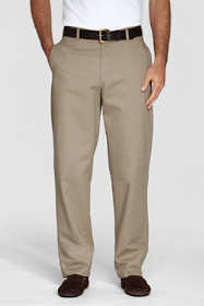Young Men's Stain Resist Plain Front Chino Pants