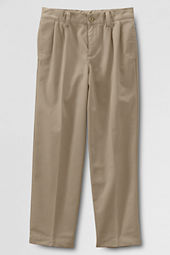 School Uniform Pleat Front Iron Knee® Stain & Wrinkle Resistant  Chino Pants