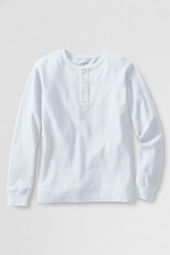 School Uniform Boys' Long Sleeve Jersey Henley Shirt