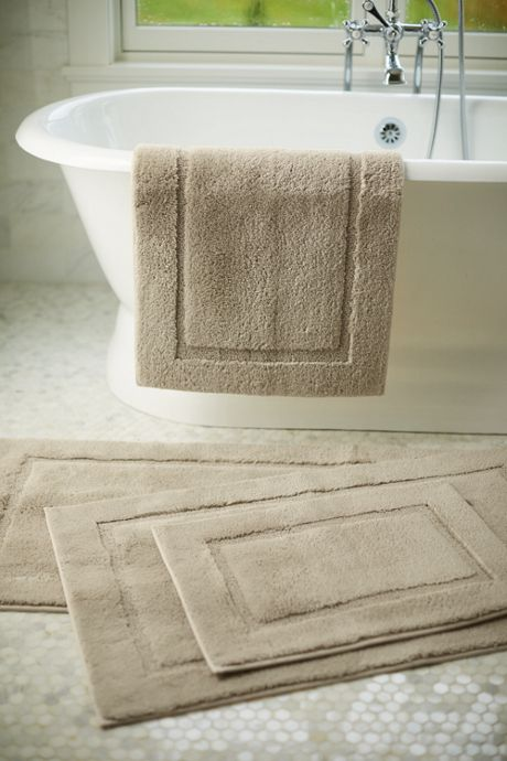School Uniform Supima Cotton Non-skid Double Sink Bath Rug 23