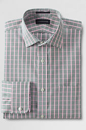 Men's Spread Collar Traditional Pattern No Iron Pinpoint Dress Shirt