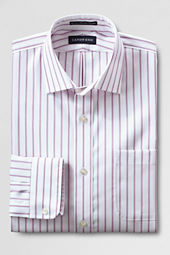 Men's Spread Collar Tailored Pattern No Iron Pinpoint Dress Shirt