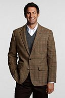 Lands' End Traditional 2-button Patch Washed Wool Jacket 406150