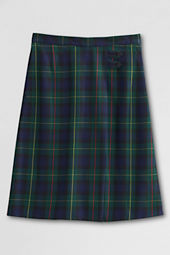 Juniors' Plaid A-line Skirt