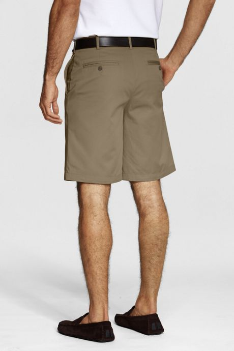 Young Men's Cotton Plain Front Chino Shorts