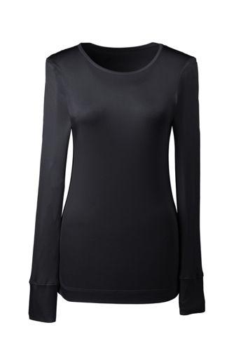 Seiden-Rundhalsshirt mit langen Ärmeln für Damen