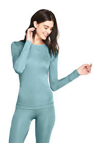 Women's Petite Silk Base Layer Long Underwear Crew