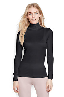 Women's Lightweight Feminine Silk Roll Neck