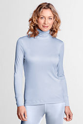 Women's Feminine Silk Turtleneck
