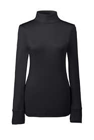 Women's Petite Base Layer Long Underwear Silk Turtleneck