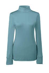 Women's Petite Base Layer Long Underwear Silk Turtleneck