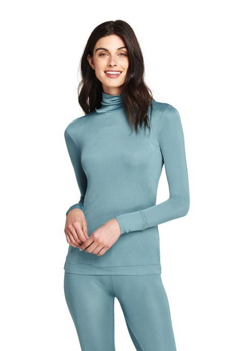 Women's Base Layer Long Underwear Silk Turtleneck
