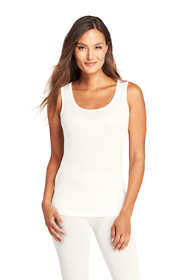 Women's Petite Base Layer Long Underwear Silk Tank Top
