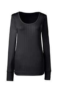 Women's Base Layer Long Underwear Silk Scoopneck Top