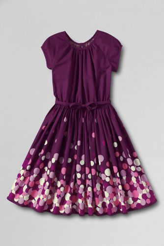 Girls' Short Sleeve Woven Twirl Dress