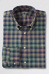 Men's Buttondown Traditional Pattern Brushed Highlander Twill Shirt