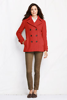 Women's Luxe Wool Blend Pea Coat