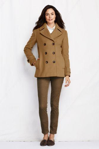 Le Caban de Conduite en Laine de Luxe, Femme Taille Standard