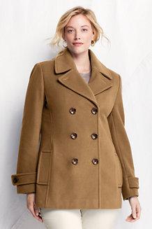 Women's Luxe Wool Blend Pea Coat
