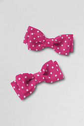 School Uniform Girls' Bow Hair Clips  (set of 2)