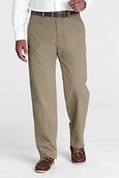Men's Pre-hemmed Plain Front Traditional Fit Casual Chino Pants