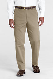 Men's Pre-hemmed Plain Front Comfort Waist Original Chino Pants