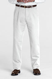 Men's Pre-hemmed Pleat Front Comfort Waist Original Chino Pants