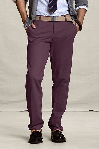 Matching A Plum Purple Pair Of Pants