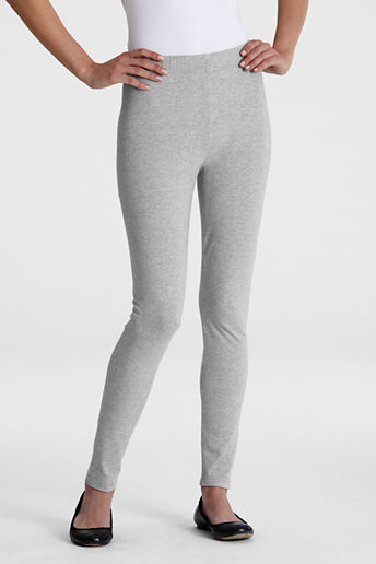 Women's Knit Leggings - Gray Heather, L