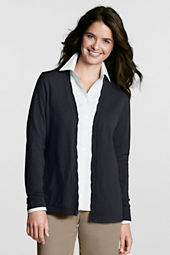 Women's Petite Long Sleeve Performance Twist Open V-neck Cardigan