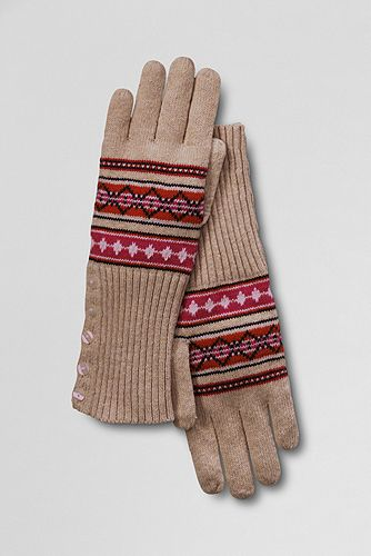 Brag Worthy Christmas ~Lands End Fair Isle Button Gloves and Hat ...