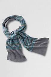 Women's Fair Isle Button Scarf